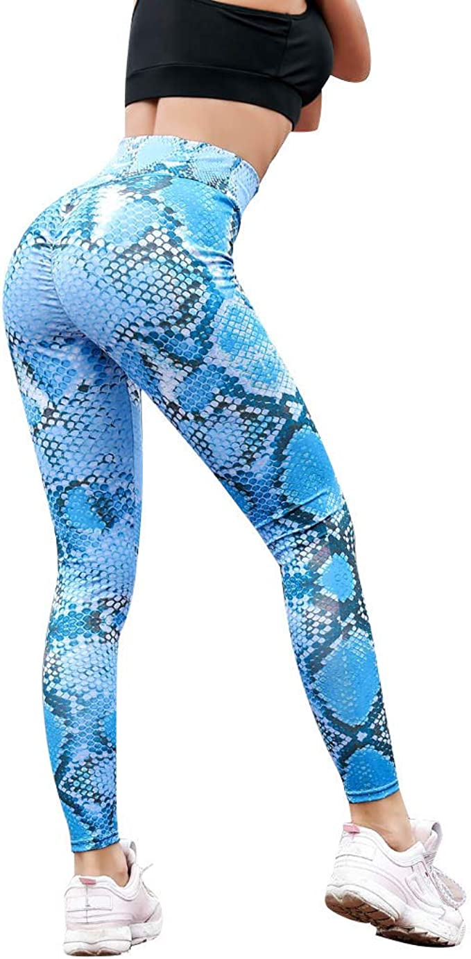 HENWERD Women Yoga Legging Power Flex Tummy Control Workout ...
