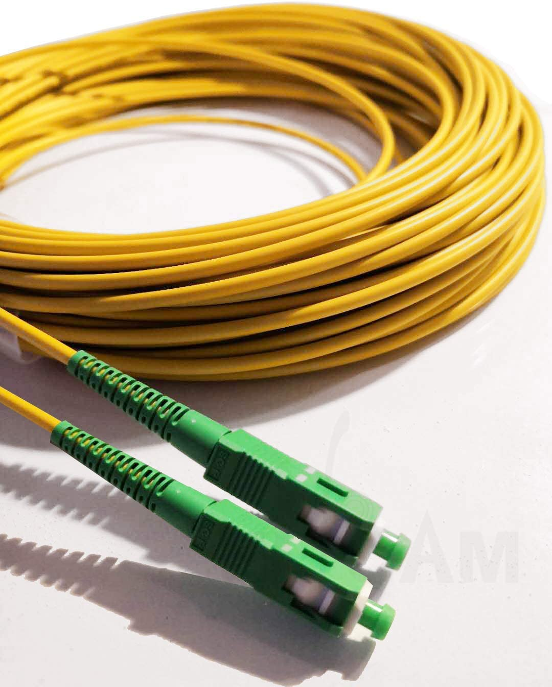 Elfcam FTTH, Fiber to The Home Kompatibel mit Glasfaser bis in die Wohnung ,5M Gepanzerte Glasfaserkabel SC//APC auf SC//APC Simplex Singlemode