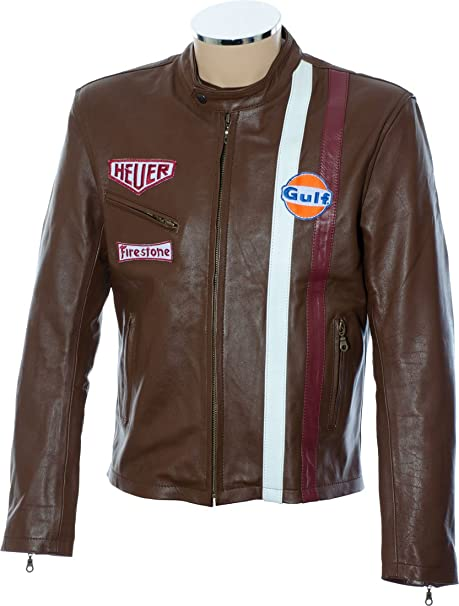 RTX Leathers - Chaqueta - Biker - para hombre marrón marrón Small
