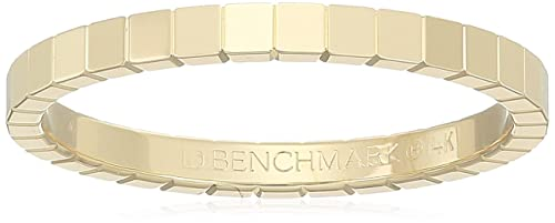 14k Gold 2mm High-Polished Square Design Band Stackable Ring
