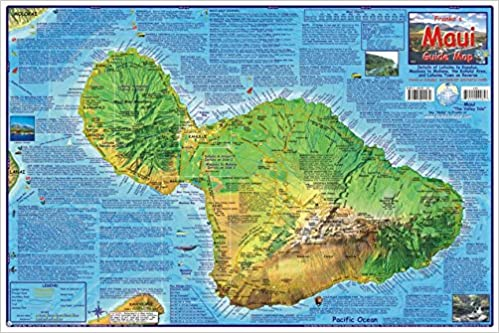 Hawaii Map Maui.Maui Hawaii Adventure Map Franko Maps Laminated Poster Franko Maps