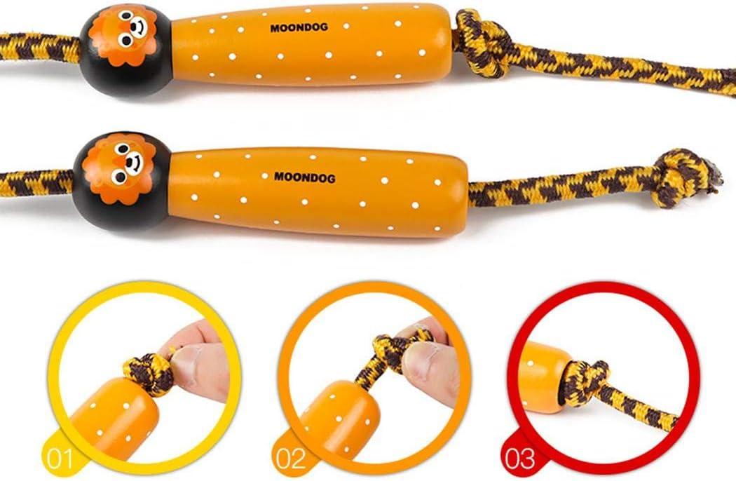 Brawl Kids Cartoon Animal Wooden Handle Play Entertainment Adjustable Skipping Rope Training Equipment
