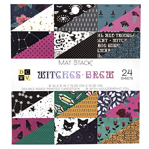 DCWV 615631 Witches Brew Cardstock, Multi