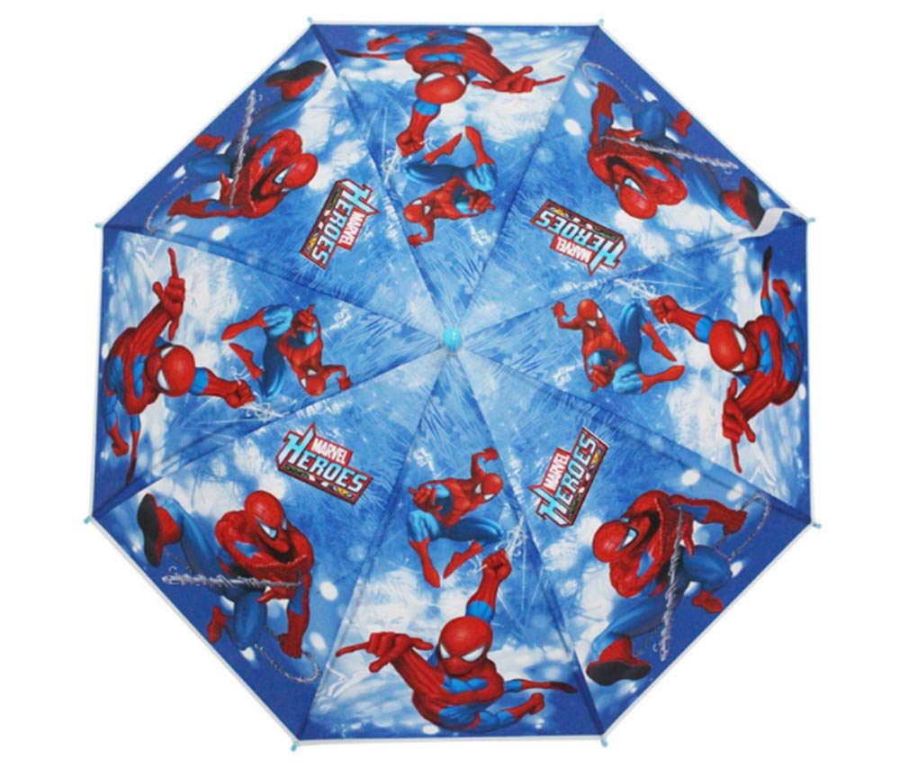 Kid's Cartoon Umbrella Spiderman Boy's Umbrella Brolly Sun Rain