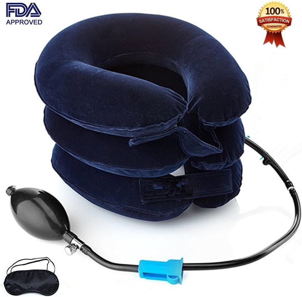 Dispositivo De Tracción Cervical Del Cuello Para El Dolor De Cabeza Y Hombros - Almohada Inflable Para El Cuello