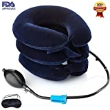 Cervical Neck Traction Device FDA Registered – Inflatable, Adjustable Neck Stretcher Collar for Home Traction Spine Alignment