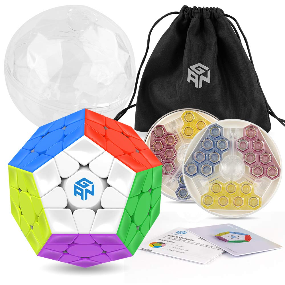 Coogam GAN Megaminx Cube Magnetic Version 3×3 Gans Megaminx M Stickerless Speed Cube Toy Pentagonal Dodecahedron Concave Shape Puzzle by Coogam