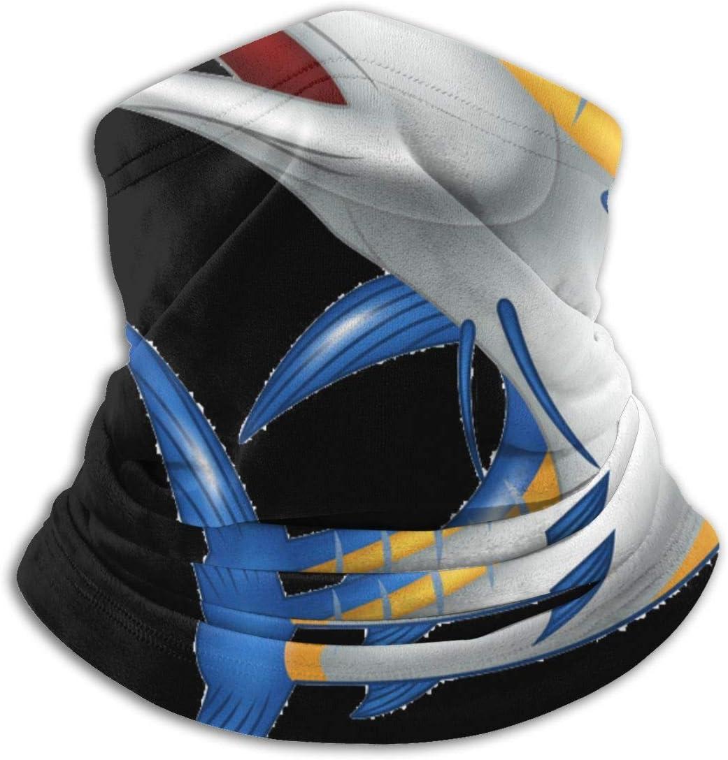Ruthxiaoliang Punta Azul Shark Headwear Neck Gaiter Warmer Winter Ski Tube Bufanda Máscara Fleece Face Cover A Prueba de Viento para Hombres Mujeres Personalizado
