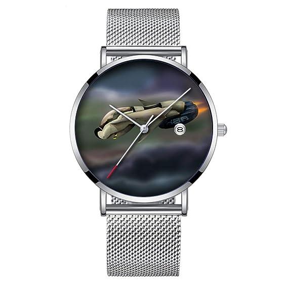 Reloj de Pulsera Minimalista de Cuarzo con Fecha y Banda de Malla 231, Ultra Delgado