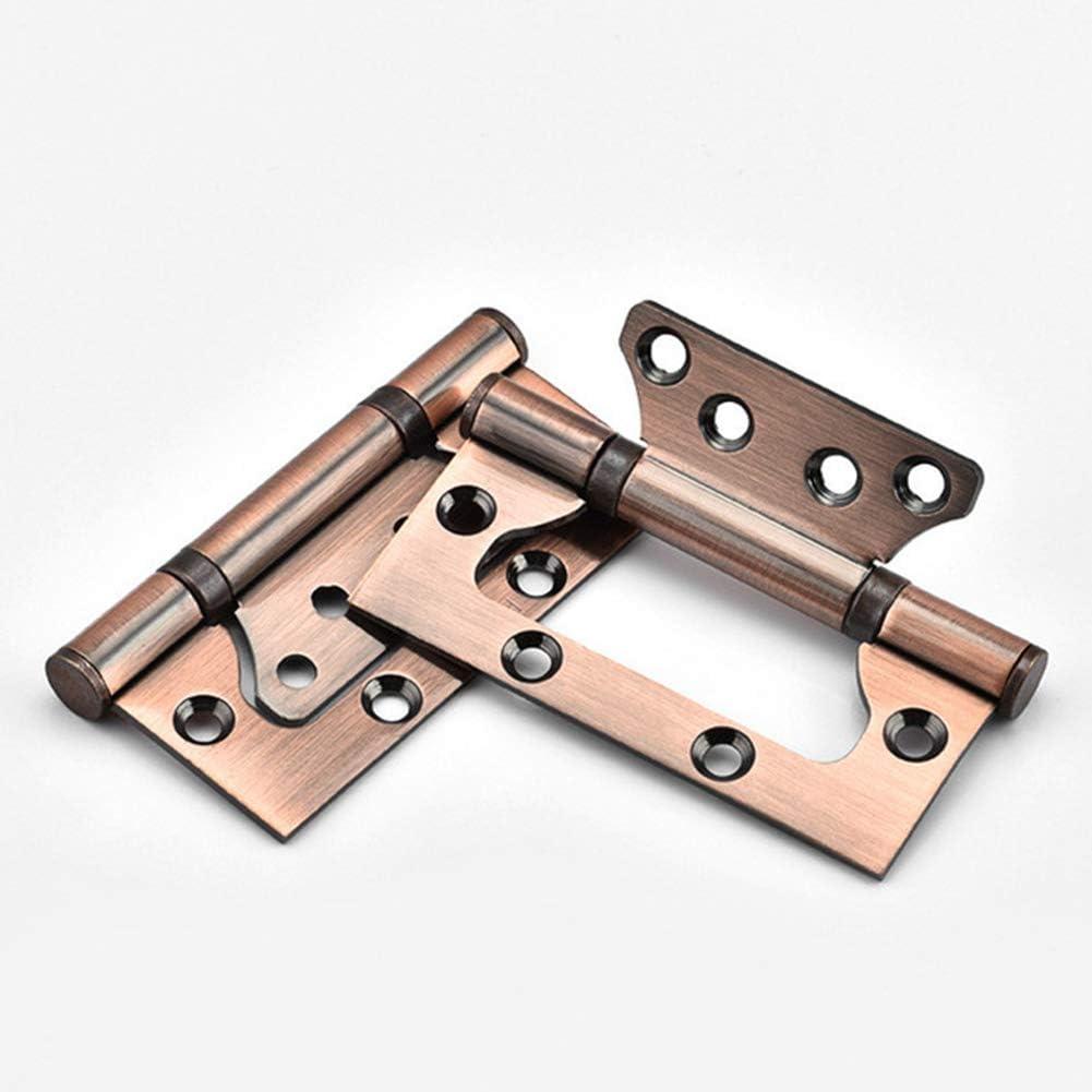 Xingsiyue Stainless Steel Door Hinges Groove-Free Flush Hinge Invisible Spring Door Hinge Anti-Rust Mute Bearings Silver