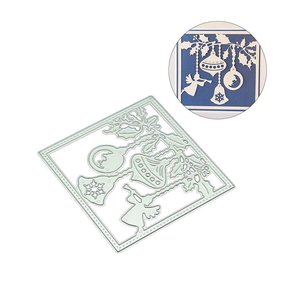 caja de regalo de Navidad bricolaje troquel de corte de metal plantilla /álbum de recortes tarjetas Kuizhiren1 plantilla de troquelado
