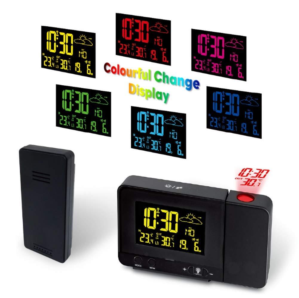 Despertador Proyector Reloj Despertador Digital con Pantalla LCD ...