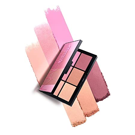 NARS NARSissist Unfiltered II Limited Edition Blush Palette for Cheeks – UK Version – .12 ounces x 6 Includes Hot Sand, Conquest, Undefeated, Power Play, Candid and Fame