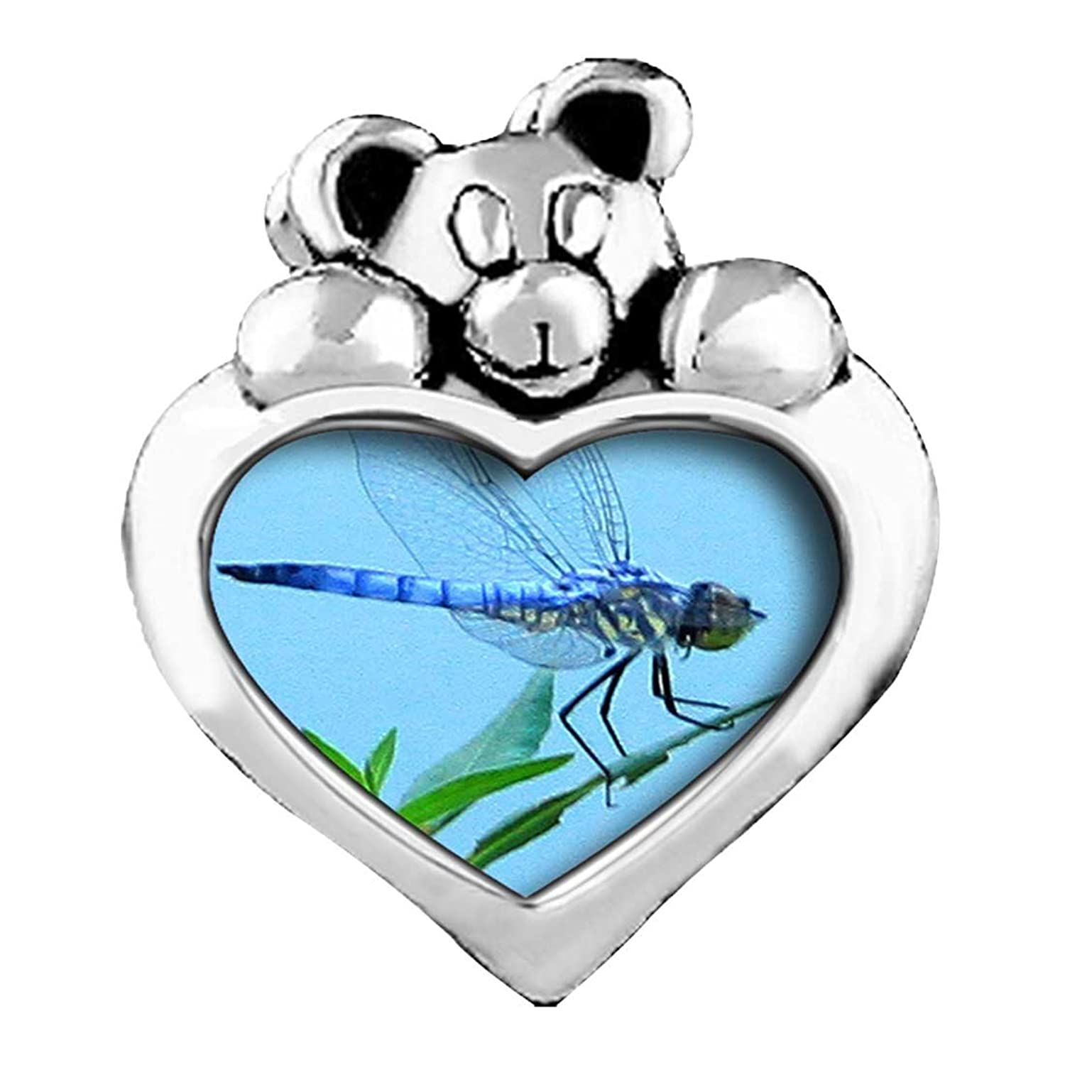 Beautiful Lovely Dragonfly Emerald Green Crystal May Birthstone I Love You Heart Care Bear Charm