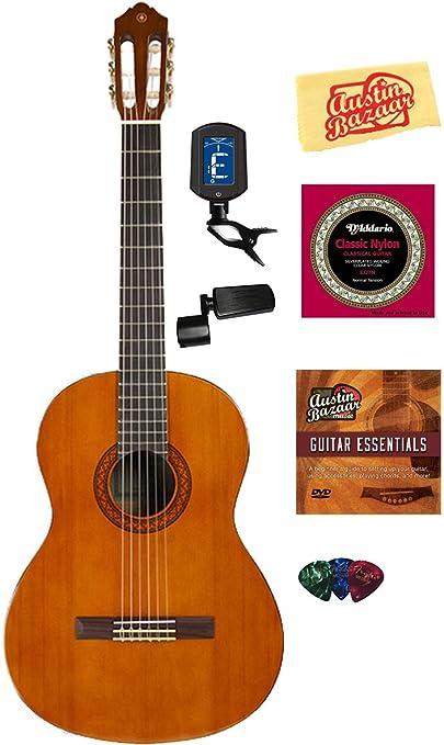 Yamaha C40 Guitarra Acústica con Cuerdas de nailon, con DVD de ...