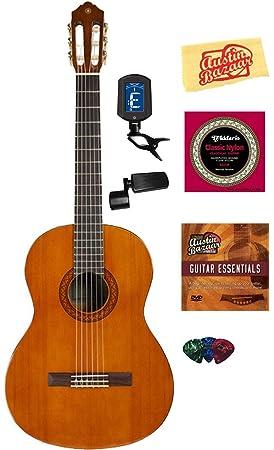 Yamaha C40 Guitarra Acústica con Cuerdas de nailon, con DVD ...