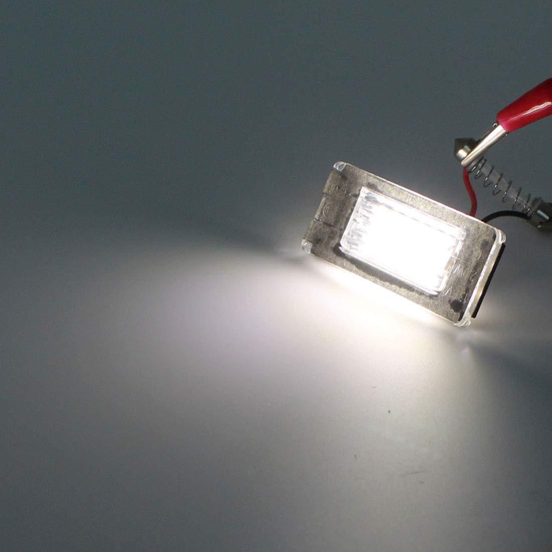 MuChangZi 2Pcs No Error LED Number License Plate Light For B//MW Mini Cooper R56