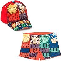 ARTESANIA Y DISEÑO TEXTIL, S.A. Bañador Avengers Los Vengadores Tipo Bóxer para Playa o Piscina + Gorra Vengadores para…