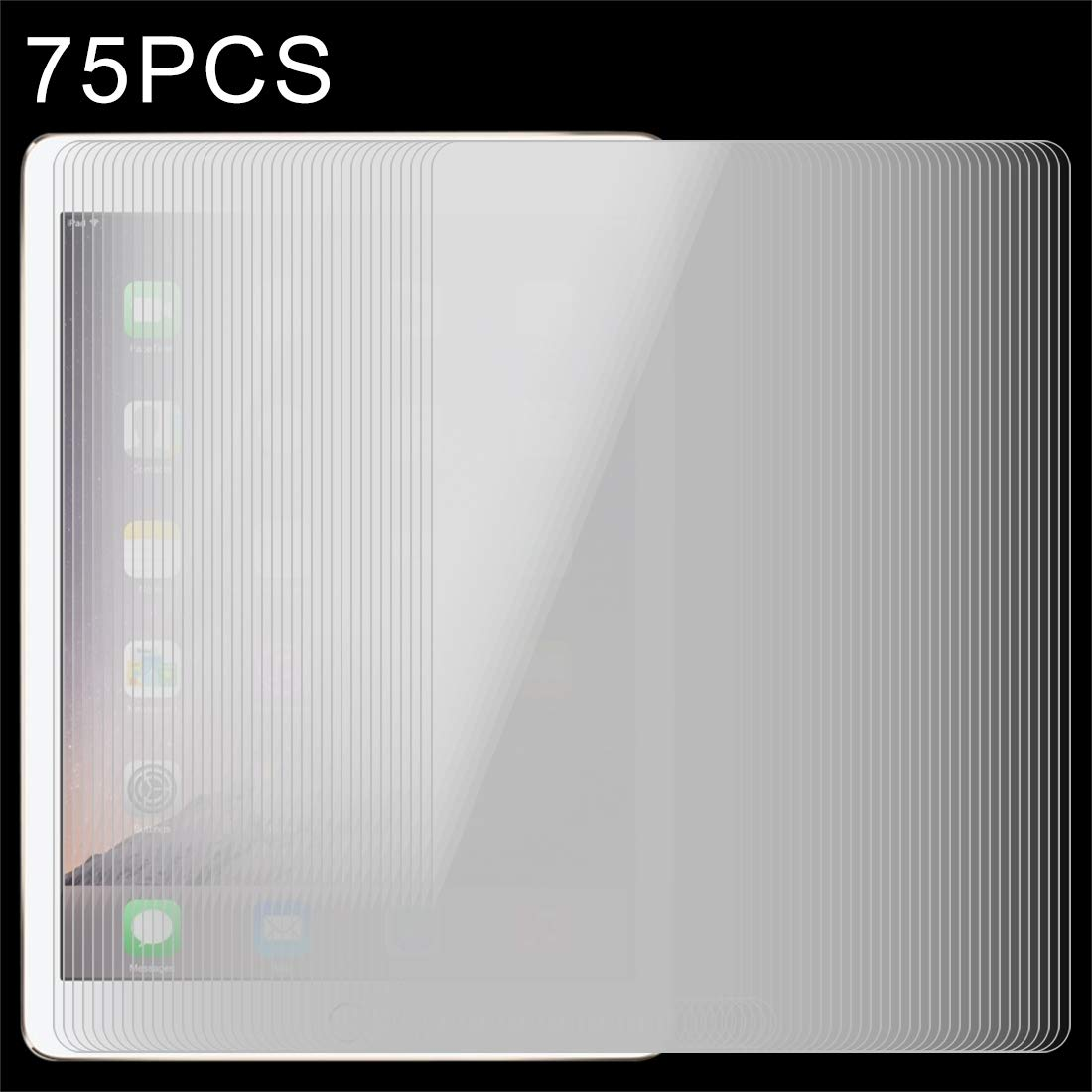 YCDZ STORE Tempered Glass Film 75 PCS for iPad Mini 4 0.4mm 9H+ Surface Hardness 2.5D Explosion-Proof Tempered Glass Film
