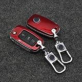Car Key Cover Case For Volkswagen VW GOLF 4 5 6 Passat B5 B6 Tiguan Touran Polo Scirocco Jetta MK5 MK6 Car Accessories (Red)