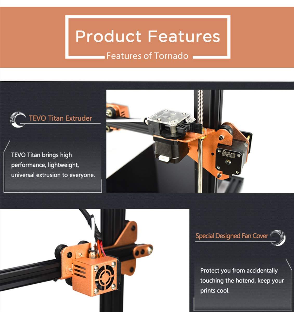 TEVO Tornado Impresora 3D, Impresora DIY Impresora 3D con ...