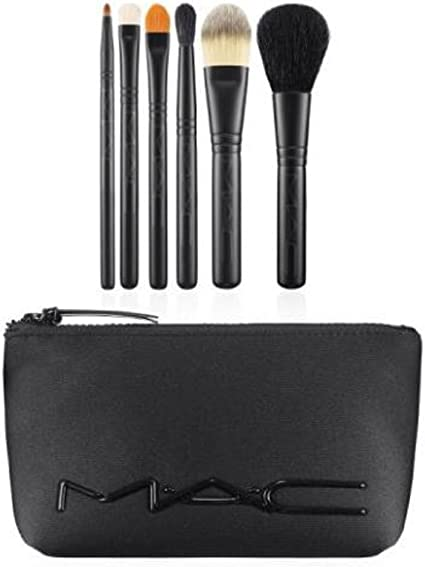 Mac M?a?c Look in a Box Brush Kit Basic 6 Pc + Neoprene Cosmetics Bag by M.A.C: Amazon.es: Belleza