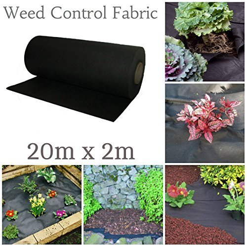 GARDEN MILE® 20M x 2M WEED CONTROL FABRIC MEMBRANE GROUND SHEET GARDEN OR DRIVEWAY LANDSCAPE FABRIC WEED CONTROL WITHOUT CHEMICALS PLUS 50 x FREE PEGS …