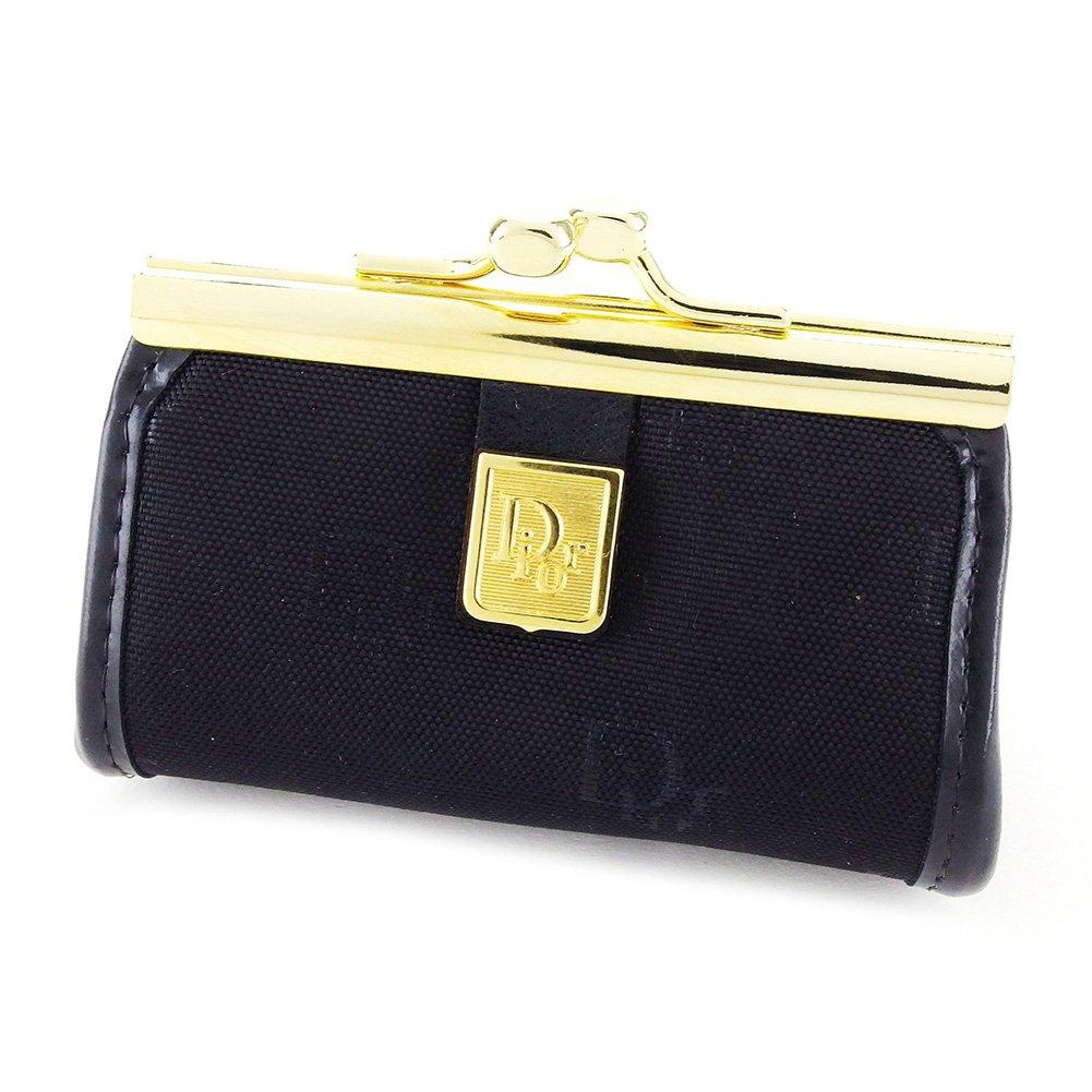 (ディオール) Christian Dior コインケース 小銭入れ ブラック×ゴールド メンズ可 中古 L1723   B075XRMX9B