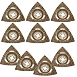 Agywell Brazed Carbide Triangular Blade Perforated Sanding Pads with Fit Multi-Tool Delta Sanding Pad (10PCS)