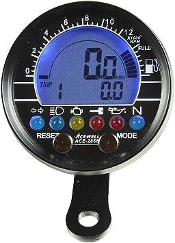 Tachimetro e contagiri con indicatore di Carburante Acewell ACE-2755