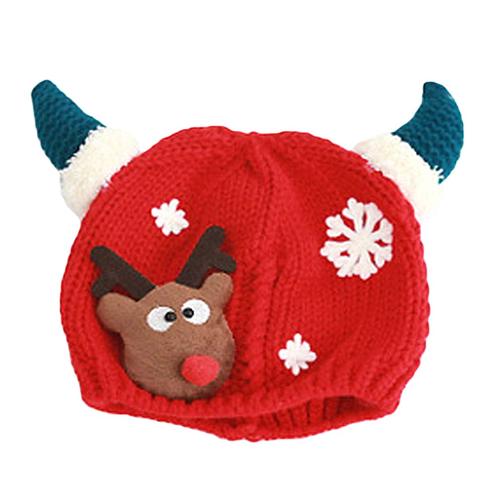 Vococal® Gorros de Invierno,Sombrero Gorros de Punto Navidad Santa Alce la Decoración del Reno para Niños Bebé
