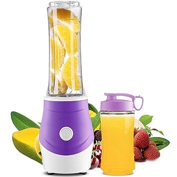 Mfun-ZUK Blender, Exprimidor Portable Centrífugo Personal para Las Frutas Y El Vehículo, Acero Inoxidable De La Categoría Alimenticia BPA-Libre: Amazon.es