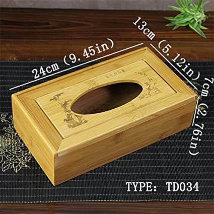 Generic 8 tipos Generic Creative servilletero td034 tallada de madera de almacenamiento de cajas de Tejido