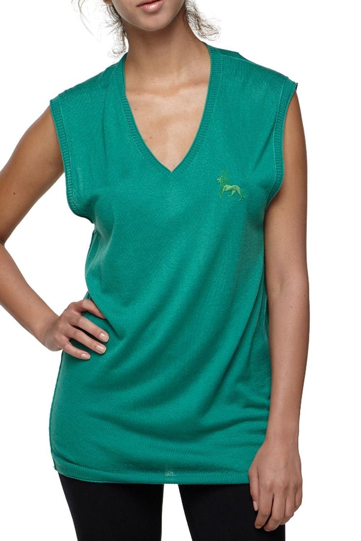 Roberto Cavalli - Women's Top Blouse V Neck Green, 38, Green