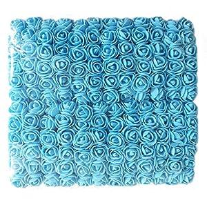 Artfen Fake Rose Flower Heads 144pcs Mini Artificial Roses DIY Wedding Flowers Accessories Make Bridal Hair Clips Headbands Dress Approx 1 Inch Diameter 119
