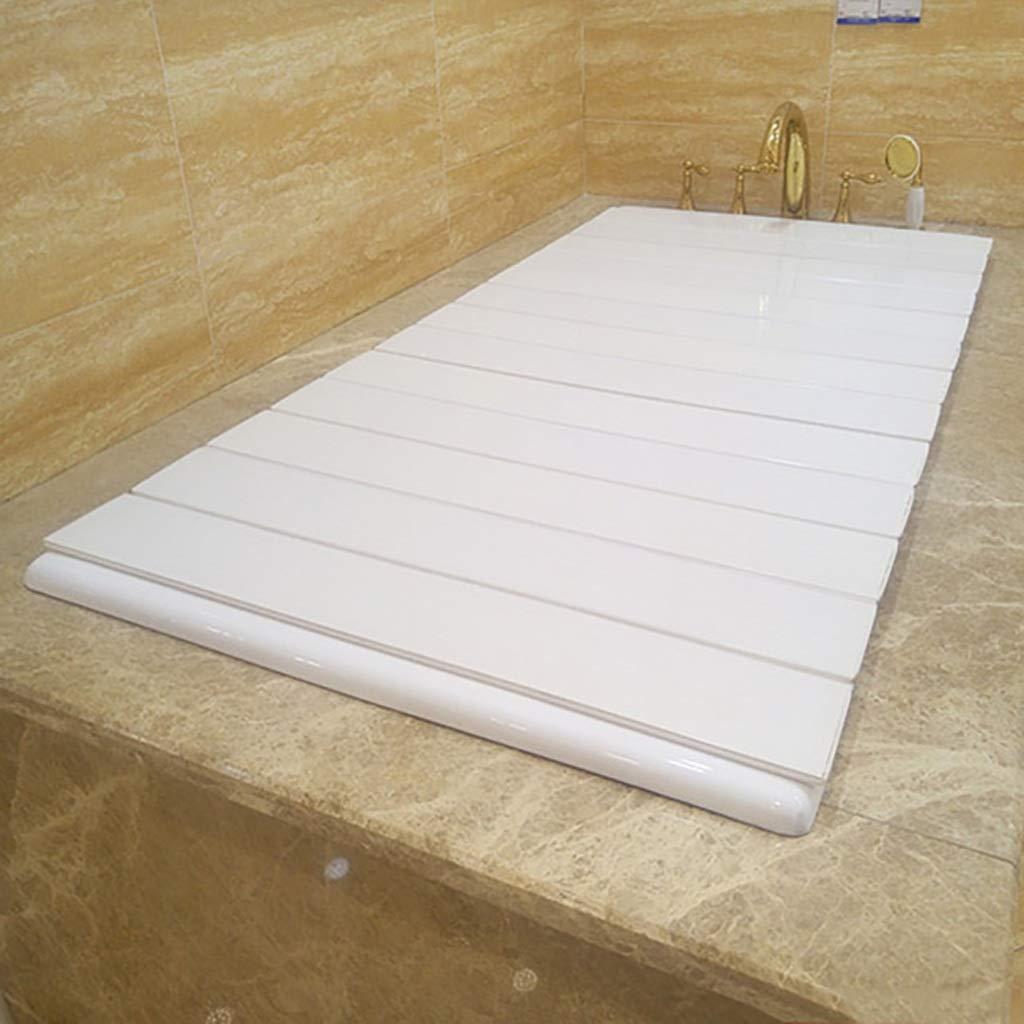 ZWJLIZI Badewannenbretter Badewannenabdeckung Badewannenablage Falten Isolierabdeckung Staubdichte Halterung Umweltschutz PVC wei/ß Multi-Size-Auswahl gr/ö/ße : 85 * 66 * 0.6CM