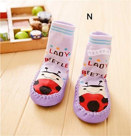 1 par Calcetines – Zapatillas de Baby – Medias Niños antiskid Calcetines para mujer en suelo