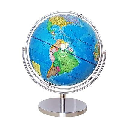 Full Earth Map.World Globe Seluxe Blue Ocean Silver Base Full Earth Geography Over