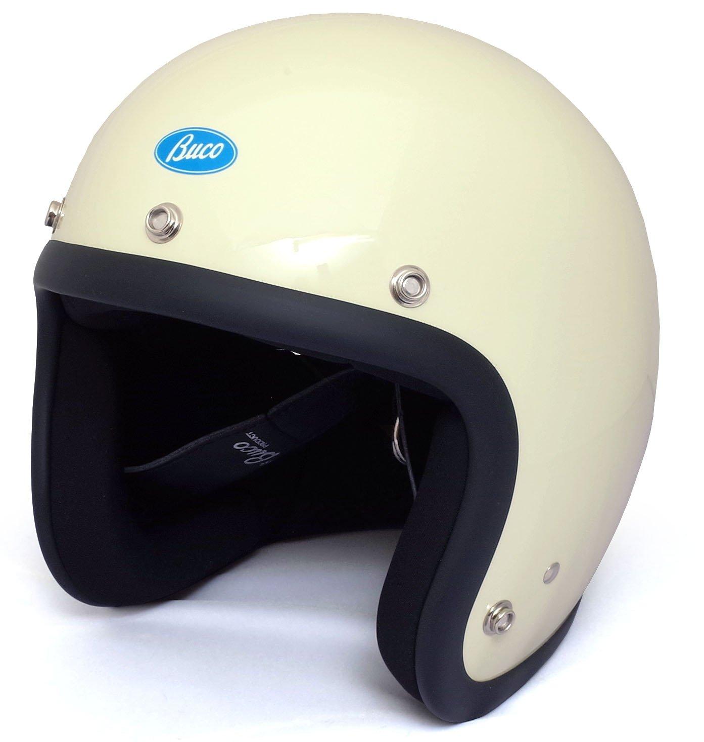 BUCO EXTRA BUCO 70's スタイル プレーン モデル ジェットヘルメット B07CWSP56G XL アイボリーホワイト アイボリーホワイト XL