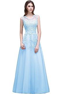 eaf0a029ca0 Babyonline Women s Lace A Line Formal Evening Dress for Women Long Prom  Dress