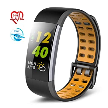 TECKEPIC I7A Montre Connectée Smartwatch Bracelet Connecté Trackers dactivité Podomètre Distance Calories Cardiofréquencemètre iPhone