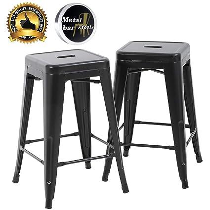 Surprising Amazon Com Fdw Bar Stools Counter Stool Barstools Set Of 2 Creativecarmelina Interior Chair Design Creativecarmelinacom