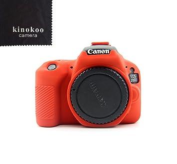kinokoo Funda de Silicona para Funda Protectora Canon EOS 200D / Rebel SL2 (Rojo): Amazon.es: Electrónica