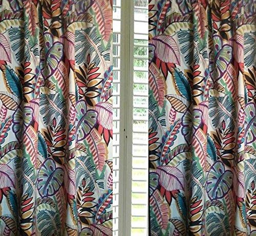 P Kaufman Aruba Fabric Tropical Curtains