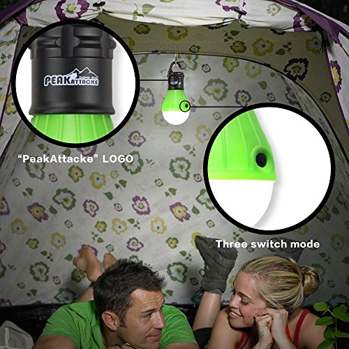 PeakAttacke Outdoor Portable Waterproof LED Tent Light for Camping, Hiking, Emergencies Green