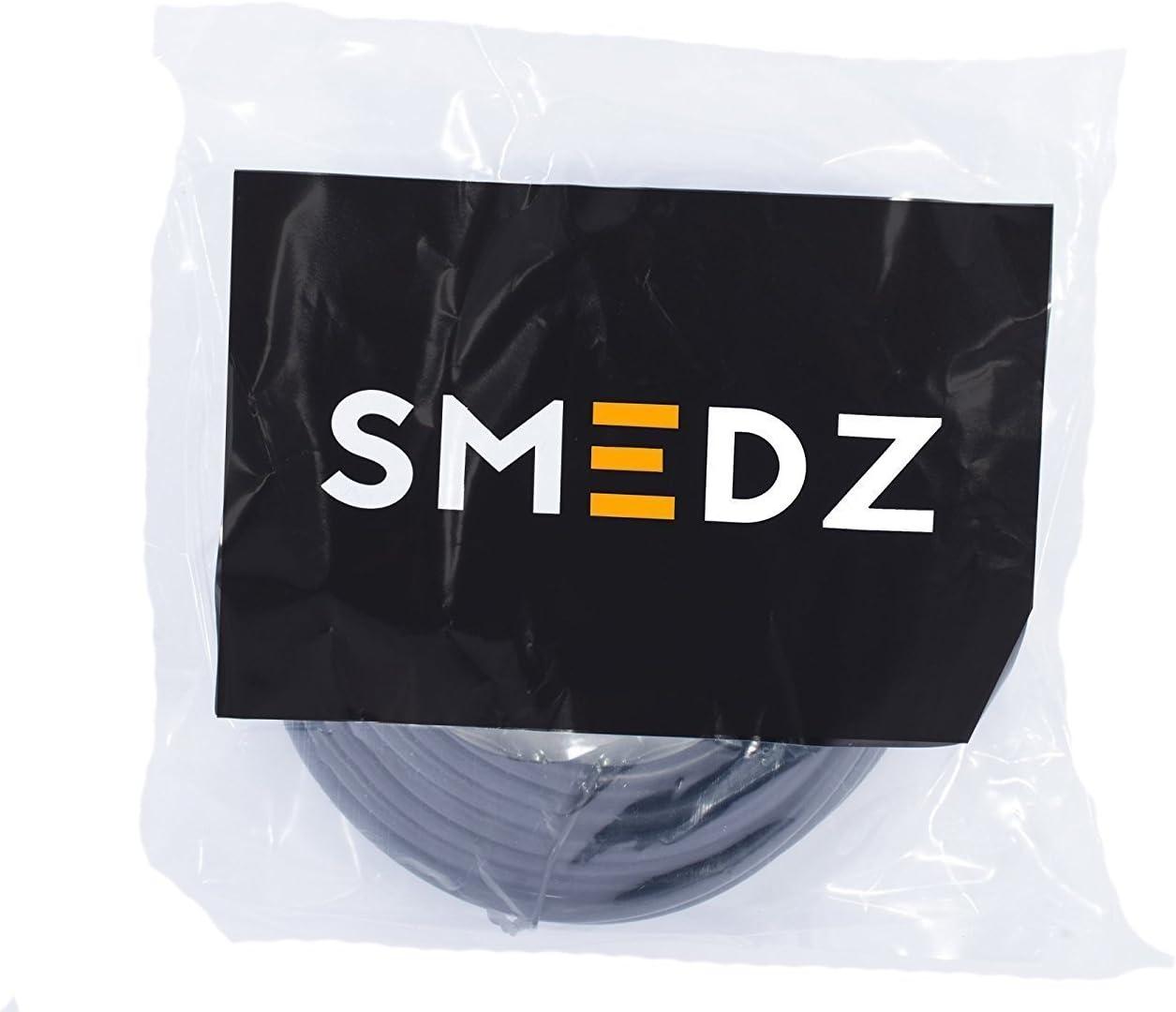 Smedz C/âble dextension dalimentation CC m/âle vers Femelle 2,1 mm x 5,5 mm Noir 5 m