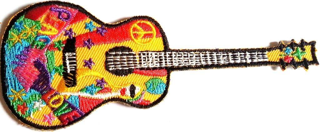 Parches para planchar Parche Patch Parche Guitarra Hippie 14 cm ...