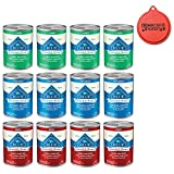 Blue Buffalo Bundle Homestyle Recipe Canned Dog Food Pack 12.5 oz x 12 cans, Lamb Dinner, Chicken Dinner and Beef Dinner For Sale