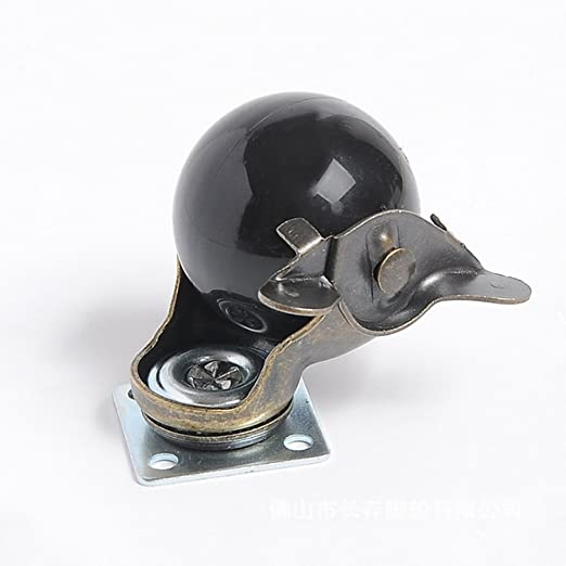 Pack de 4 roulettes de frein bronze vintage capacit/é de charge de 20 kg 44 lb roulettes pivotantes /à capuchon pivotant /à 360 degr/és 1,5 pouce roue de frein de 1,5 pouces