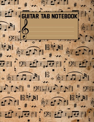 Iv Guitar Tab Songbook - Guitar Tab Notebook: Blank Sheet Music For Guitar (Large Print) 108 Pages With Chord Boxes, Staff, TAB and Lyric - Music Manuscript Paper Vol.4: Blank Sheet Music For Guitar (Volume 4)
